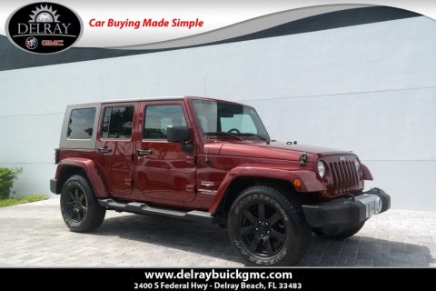 Pre Owned 2008 Jeep Wrangler Unlimited Sahara RWD Convertible